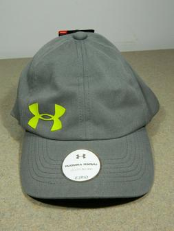 New! Under Armour Girls Gray Baseball Cap Hat Youth Adjustab