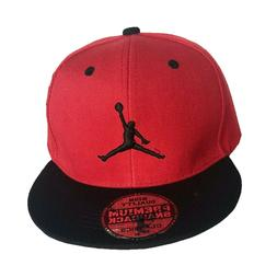 NEW Mens Jordan Baseball Cap Snapback Hat Red Black Adjustab
