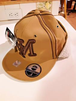 NEW City Hunter NY Baseball HAT Fitted LG Brown Cap Embroide