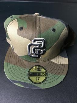NEW San Diego Padres Camouflage New Era 59Fifty MLB Baseball