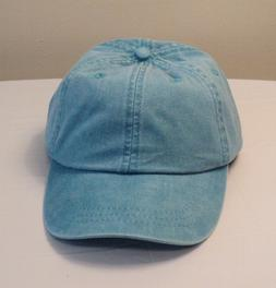 NEW~Turquoise Blue Denim Baseball Cap/Hat by ADAMS Cool Crow