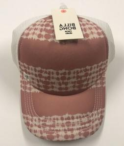 new BILLABONG Women's Pink / White Baseball Hat ONE SIZE Mes