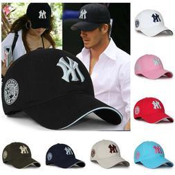 New York Yankees Caps Adjustable MLB Baseball Cap NY Logo Fi