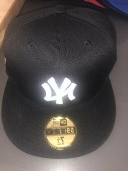 New York Yankees Fitted Hat Cap Black Mlb Baseball