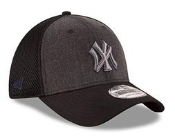 New Era New York Yankees MLB 39THIRTY Heathered Black Neo Fl