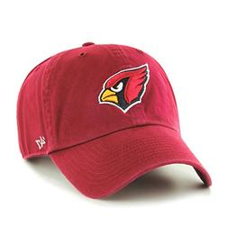 NFL Arizona Cardinals Clean Up Adjustable Hat, Dark Red, One