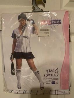 NWOT Secret Wishes Nasty Curves Baseball Uniform Adult Size