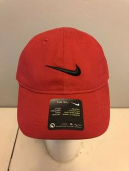 Nike Boys Hat Red Size Toddler 2/4T with Adjustable Fit.