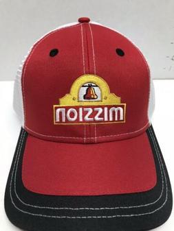 NWT CAP Mission Red Trucker Hat BASEBALL CAP HAT Free Shippi