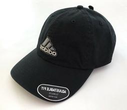 NWT Adidas Men's embroidered Logo Adjustable Black Baseball