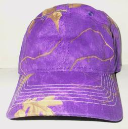 NWT WOMENS REALTREE PURPLE CAMOUFLAGE NOVELTY BASEBALL HAT