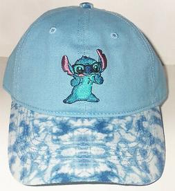 NWT  WOMENS Disney Stitch BLUE W/ TIE DYE NOVELTY BASEBALL H