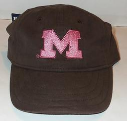 NWT WOMENS UNIVERSITY OF MICHIGAN WOLVERINES BROWN W/ PINK N