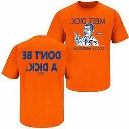 NY Baseball Fans. Don't Be a Dick. Orange T-Shirt