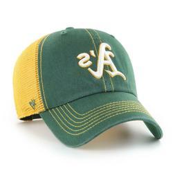 Oakland Athletics '47 Brand Green Trawler Clean Up Adjustabl