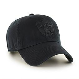 Oakland Raiders 47 Brand NFL Strapback Adjustable Blackout D