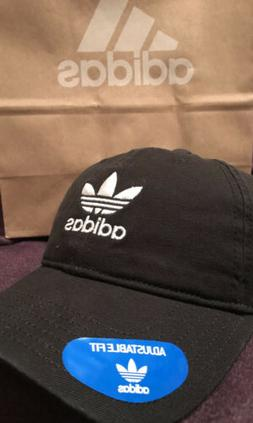 ADIDAS ORIGINALS Black Hat Relaxed Strapback Dad Baseball Ca
