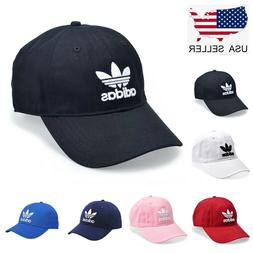 Adidas Originals Mens Relaxed Strapback Hat 100% Cotton Blac
