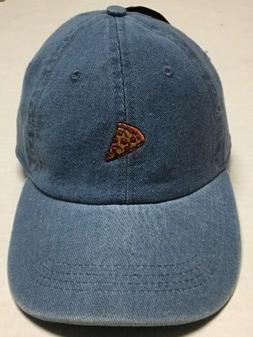 Pepperoni Pizza Strapback Hat Denim Baseball Cap City Hunter