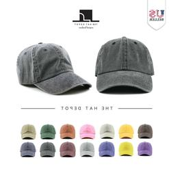 Cotton Hat - The Hat Depot Pigment Dyed Low Profile Cotton B