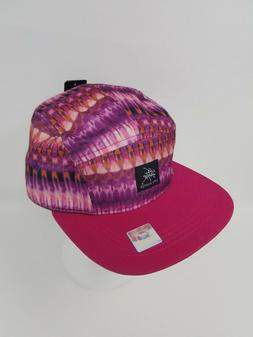 pink and purple strapback baseball hat cap