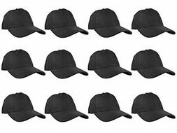 Gelante Plain Blank Baseball Caps Adjustable Back Strap Whol