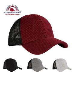 Top Level Plain Blank Structured Quilted Mesh Baseball Cap H