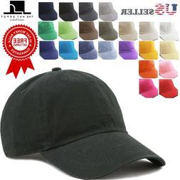 The Hat Depot Plain Washed Cotton & Denim Low Profile Baseba