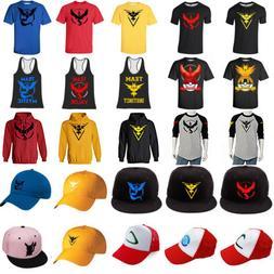 Pokemon GO T-shirt Hoodie Tee Baseball Cap Snapback Tank Top