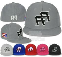 PR Fitted Caps Puerto Rico Embroidered hat Front Side Baseba