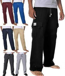 ProClub Mens Cargo Sweatpants Pants Fleece Heavyweight Multi