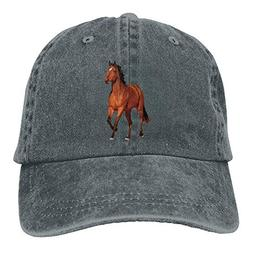 Red Horse Printing Adjustable Baseball Cap Hats Men Women Ad