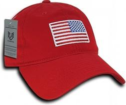 Red USA American Flag Baseball Cap Graphic Relaxed  Patrioti