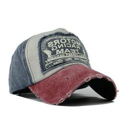 Retro Men's Baseball Cap Washed Cotton Snapback Hats Women H