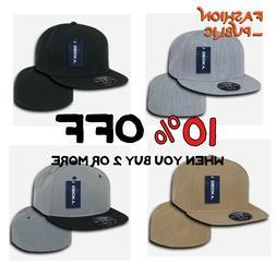 DECKY HAT RP1 MEN'S PLAIN FLAT BILL HATS BASEBALL CAP FITTED