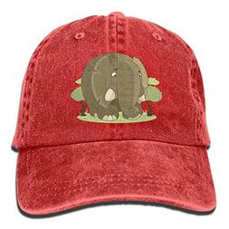 RS-pthrA2!!! Cartoon Elephant Printing Adjustable Baseball C
