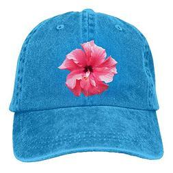RS-pthrAC!!! Pink Hibiscus Printing Adjustable Baseball Cap