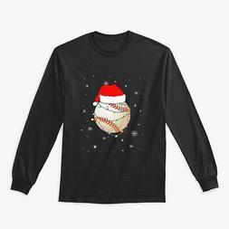 Santa Hat Baseball Christmas Gifts Gildan Long Sleeve Tee T-