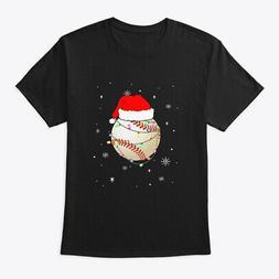 Santa Hat Baseball Christmas Gifts Hanes Tagless Tee T-Shirt