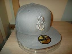 "SEATTLE MARINERS BASEBALL CAP/HAT-NEW ERA 59FIFTY 7 1/8"" ALL"