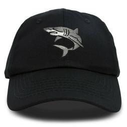 DALIX Shark Hat Embroidered Baseball Cap Great White