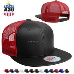 Snapback Hat Flat Mesh back Leather Hip Hop Trucker Baseball