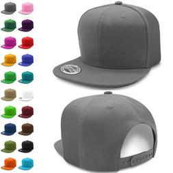 Solid Snapback Hats for Wholesale Flat Brim Baseball Caps Lo