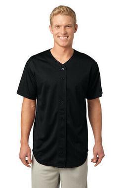 Sport-Tek PosiCharge Tough Mesh Full-Button Baseball Jersey