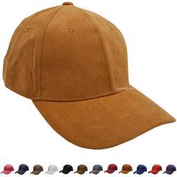 Suede Dad Hat Baseball Classic Adjustable Soft Plain Cap Men