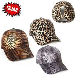 Summer Men Women Unisex Leopard Vaulted Hat Peaked Baseball