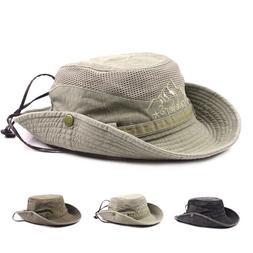 Summer Sun Protection Hunting Fishing Hiking Bucket Hat Caps
