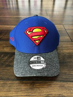 Superman Logo Team Shaded 3930 M/L Fitted Baseball Hat 39Thi