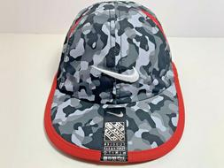 Nike Toddler Feather Light Baseball Hat C.blk/gym red Sz 2/4