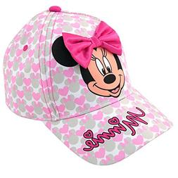 Disney Toddler Girls Minnie Mouse Bowtique Cotton Baseball C